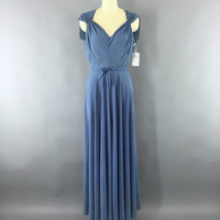Vintage 1930s Dress / 30s Evening Gown / 1930 Bias Cut Dress / Grecian Goddess Maxi Dress / Wedding Dress / Size Medium M 8 10