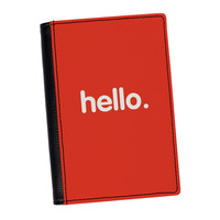 Hello High Quality PU Faux Leather Passport Cover by textGuy