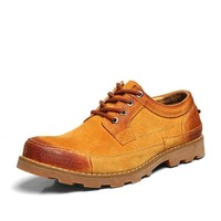Stylish Low-cut Casual Cats Leather Sneakers = 6450449539