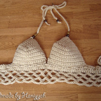 Crochet halter top, Bikini Top, Swimwear, Swimsuit,  summer wear