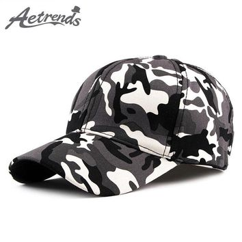 Trendy Winter Jacket [AETRENDS] 2018 Summer cotton cap camouflage hat baseball caps for men street race sport 6 panel youth hats camo snapback Z-6529 AT_92_12