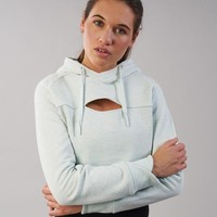 Gymshark Cropped Raw Edge Hoodie - Sea Foam Green Marl