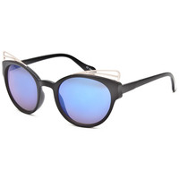 Full Tilt Cateye Brow Detail Sunglasses Black One Size For Women 25388210001