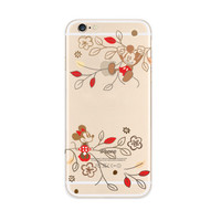 Mickey Mouse Flowers iPhone 6s 6 Soft Clear Case