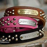 Leather Cone Stud Dog Collar