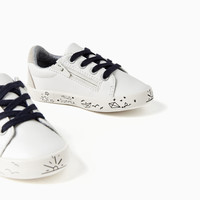 WHITE PLIMSOLLS WITH DESIGN Look+: 1 of 1