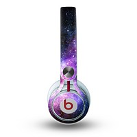 The Vibrant Purple and Blue Nebula Skin for the Beats by Dre Mixr Headphones
