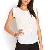 FOREVER 21 Pleated Woven Top