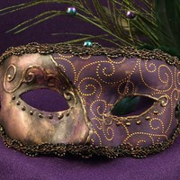 Old Orleans Dame Mask for Mardi Gras/Costume/Masquerade/Halloween/Prom
