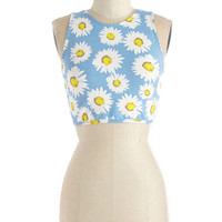 Motel Vintage Inspired Short Length Sleeveless Still Daisy After All These Years Top