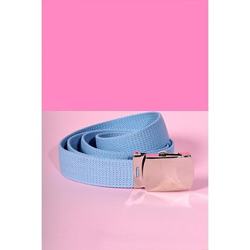 Tragic Kingdom Deadstock BB Blue Canvas Belt