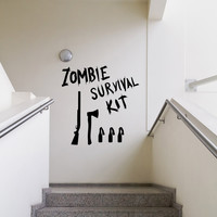 Vinyl Wall Decal Sticker Zombie Survival Kit #OS_MB983