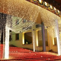 LED Icicle String Christmas-Outdoors