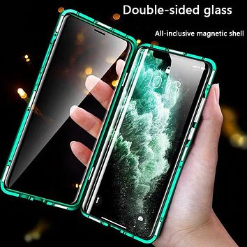Double-sided glass magnetic iPhoneXSmax/XR all-inclusive anti-drop mobile phone case