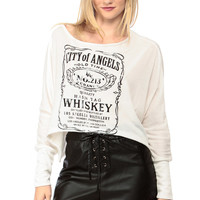 City Of Angels Over Sized Crop Top