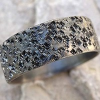 black silver wedding band unique mens wedding ring silver, volcanic rock pattern ring, black silver mens ring, mens engagement band