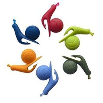 L-luck Wholesale Glass Markers Snail Wineglass Label for Hanging Tea Bag Colorful Snails Clip Silicon Gifts (10 Pcs)