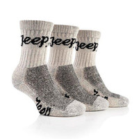 All Things Jeep - Jeep Womens Luxury Boot Socks (3-pack), Stone White