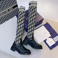Christian Dior CD embroidered letters women's high-top boots Shoes