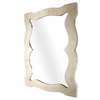 """40"""" x 30"""" x 1.5"""" Silver/Gold Wooden Frame - Cosmetic Mirror"""