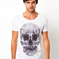 ASOS T-Shirt With Floral Skull Print