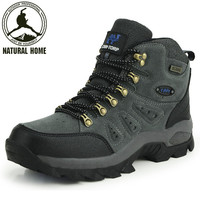 NaturalHome New Men Women Water-resistant Walking Camping Shoes Boots Sports Shoe Leather Unisex Outdoor Hiking Shoes Boot