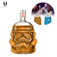 Star Wars Force Episode 1 2 3 4 5 UARTER  Stormtrooper Helmet Whiskey Decanter Crystal Glass Wine Decanter Bottle High quality Wine Glasses Accessories AT_72_6
