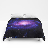 Spiral gAlAxy : Purple Blue Comforters by 2sweet4words Designs
