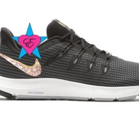 Black Gold Crystal Women's Nike Quest Running Shoes