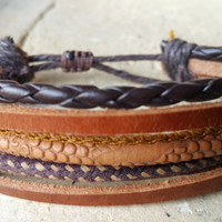 FREE SHIPPING-Men, Woman Bracelet, Multi Color and Strands. Hemp Style Country Jewelry, Unisex. 814
