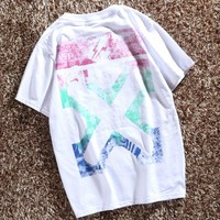 OFF the new lightning arrow round neck popular color for men and women lovers girl friends to wear short sleeves