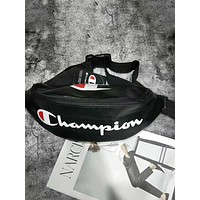 Champion tide brand wild men and women outdoor sports leisure pockets Messenger bag black