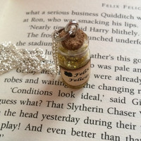 Felix Felicis Bottle Necklace / Pendant / Bookmark / Earrings / Decoration / Kering inspired by Harry Potter