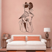 kik2854 Wall Decal Sticker Japanese geisha japan living room bedroom