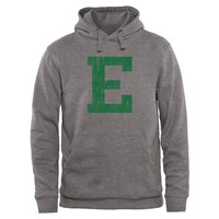 Eastern Michigan Eagles Distressed Logo Vintage Pullover Hoodie - Gunmetal