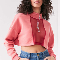 Silence + Noise Take Down Funnel Neck Mesh Top - Urban Outfitters