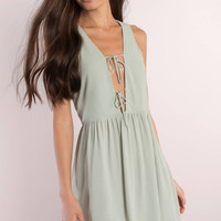 Amber Plunging Shift Dress