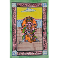 Canvas Print Ganesha Tapestry Wall Hanging on RoyalFurnish.com