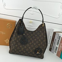 LV Louis Vuitton WOMEN'S MONOGRAM CANVAS HANDBAG TOTE BAG