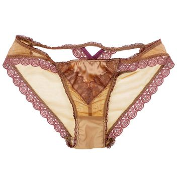 Claire Cross Back Luxe Panty in Rose Petal (XL)