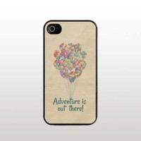 Adventure Is Out There iPhone 5 5s Case - Cool Black Plastic Snap-On Cover - Balloon Design