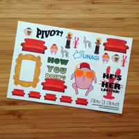 Friends TV Show Stickers -- PP123