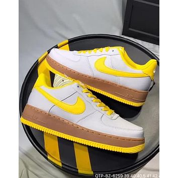 Nike M Air Force 1 2018 summer new Oxford cloth original bottom sneakers F-CQ-YDX Yellow