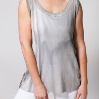 Mineral Wash Mesh Cross Over Top