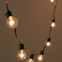 Black Corded Globe String Lights | Urban Outfitters