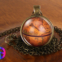 Vintage Antique World Globe Map (10) Pendant Necklace Jewelry Charm Gift Gifts