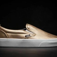 Vans Slip-On Gold Breathable Hollow Sneaker-1