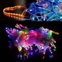 10M 100 LED Colorful Lights Decorative Christmas Party Festival Twinkle String Lamp Bulb 110V US FT [8789879943]