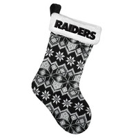Oakland Raiders NFL Official 2015 Knit Stocking