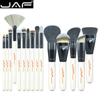 15 pcs JAF Brand Makeup Brushes Professional Make Up Beauty Blush Foundation Contour Powder Cosmetics Brush Makeup Set Tool Kit